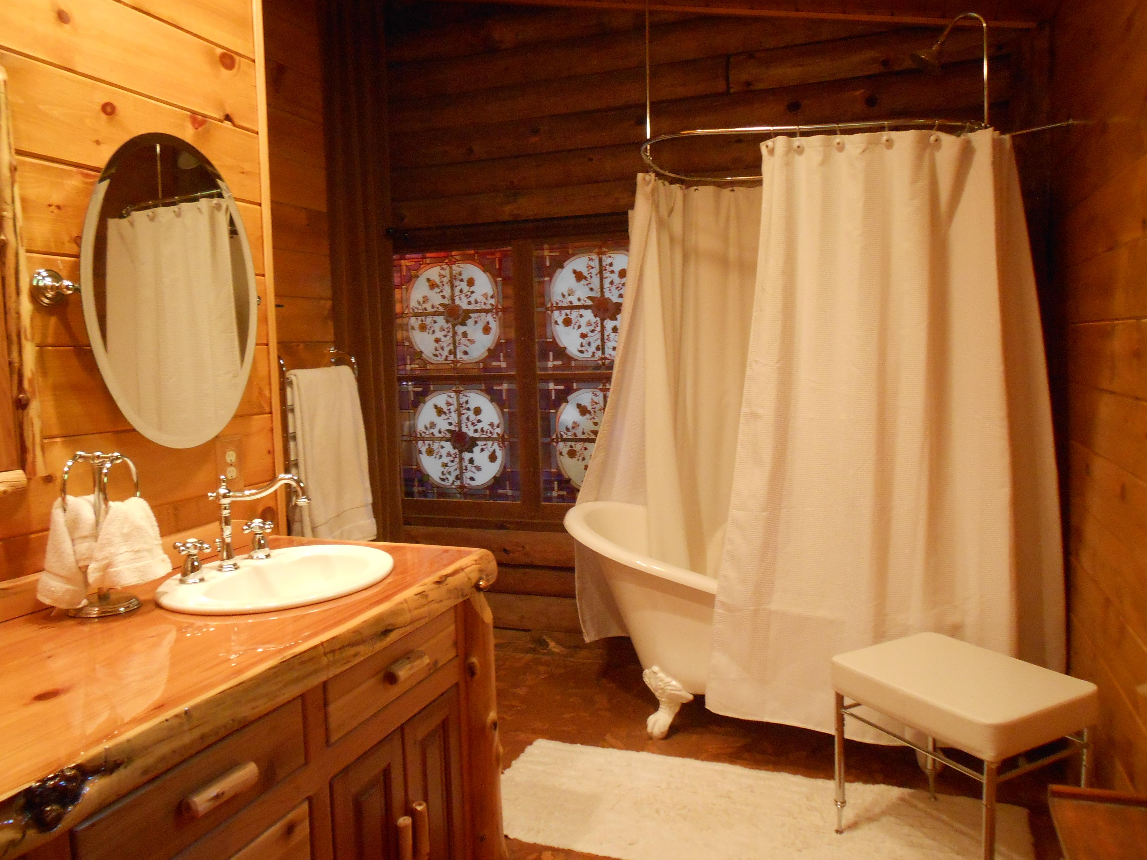 Log Cabin Bathroom Decor Log Cabin Makeover Fox Den Rd