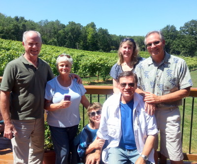 lost acre vineyards, blueberry peach crumble