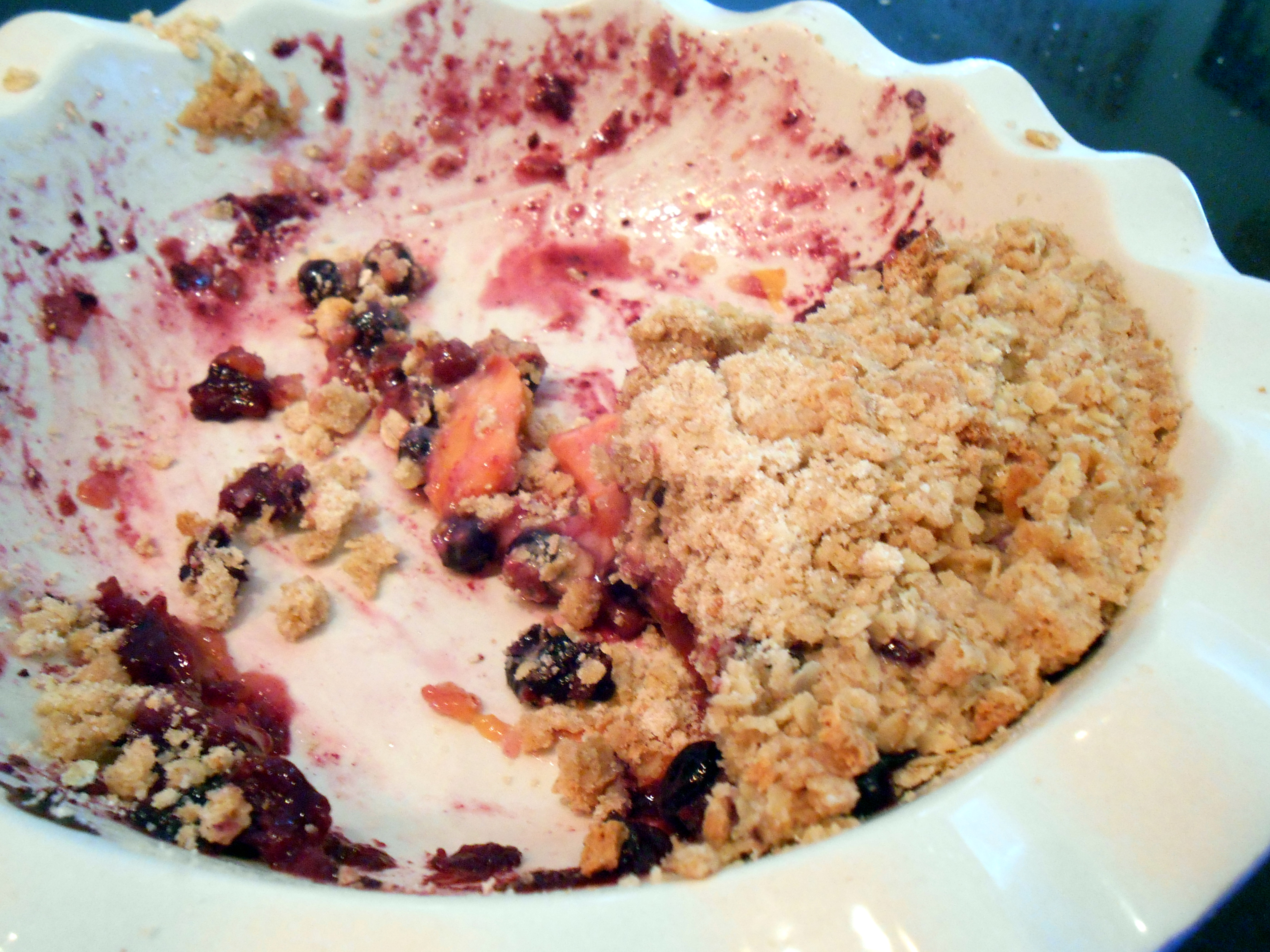 Can You Eat A Blueberry Crumble At Room Temperature