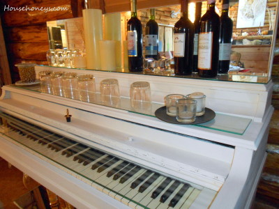 piano bar painted white