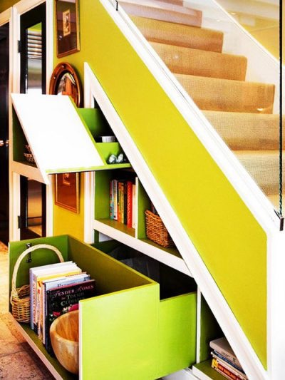 Creative Under Stair Storage