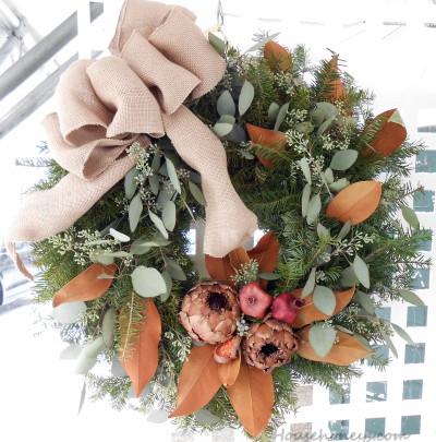 burlap inspired wreath