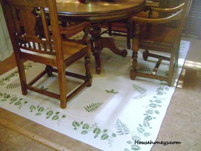 Ikea painted rug