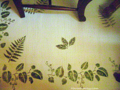 stenciled rug