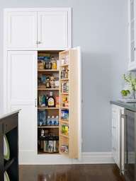 pantry in recessed wall