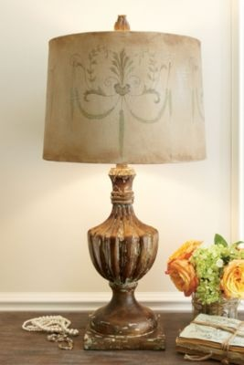 antiqued lamp