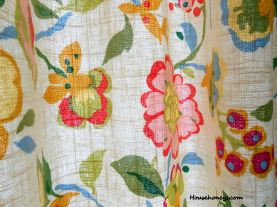 kitchen curtains, vintage fabric
