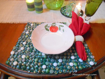 rounded placemats