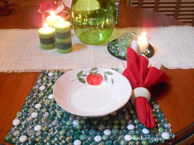 beaded placemats