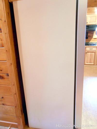 chalk refrigerator diy
