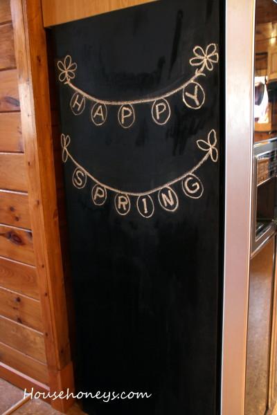 chalk board refrigerator