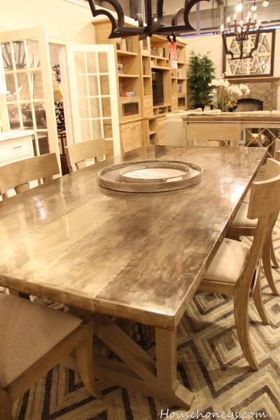 zinc covered table
