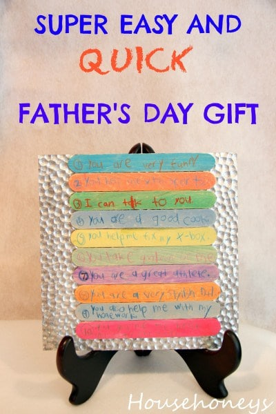easy and cheap father's day gift for kids