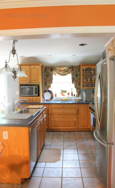 oak cabinets redo