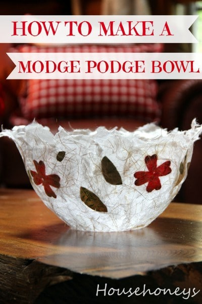 How To Make An Artisanal Bowl Using Mod Podge