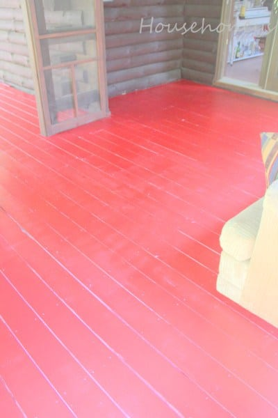 Painting the Porch Floor Red!