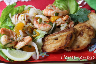 shrimp with oranges