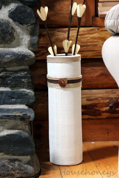 crafting a burlap vase