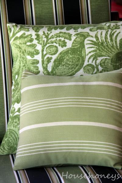 green outdoor pillows