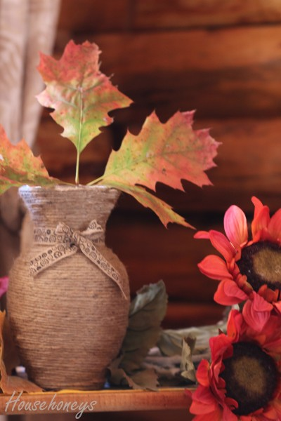 twine wrapped vase