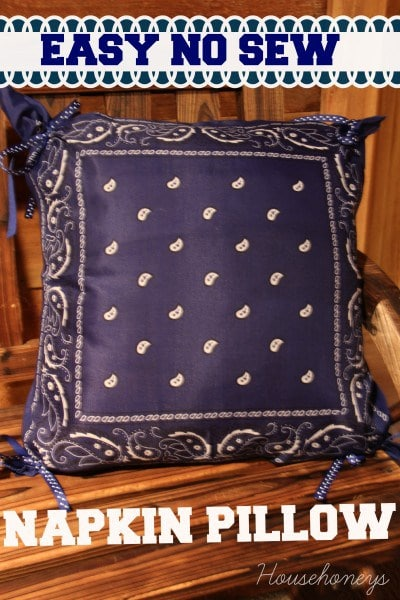 no sew napkin pillow