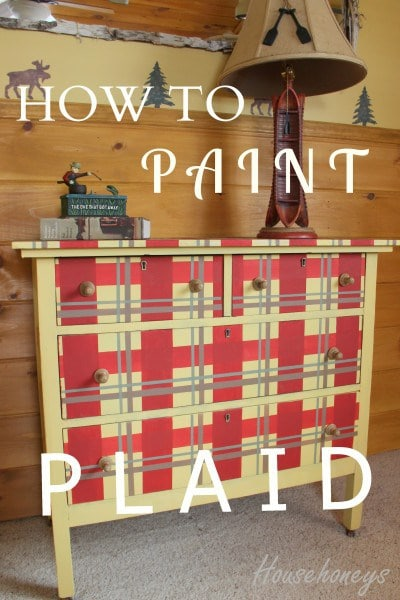 painting plaid furniture. Painting Plaid designs   Fox Den Rd