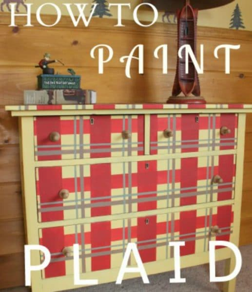How To Paint a Plaid Pattern