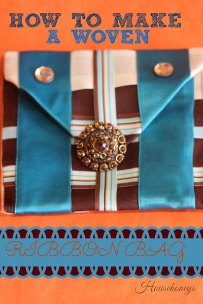 How To Make A Woven Ribbon Bag