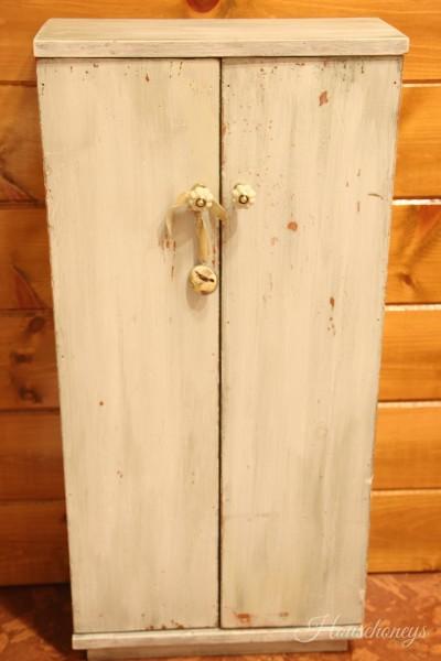 pine cabinet milk paint