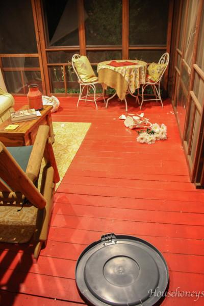 porch break in