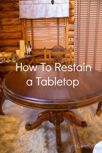staining a tabletop