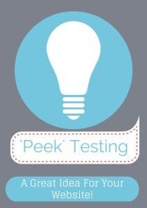 Peek testing