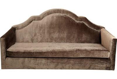 traditional brown sofa