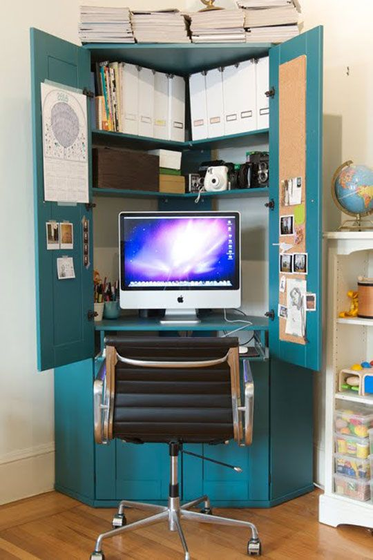Office In An Armoire