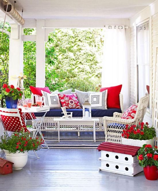 Red, White & Blue Spaces:From Classic to Rustic