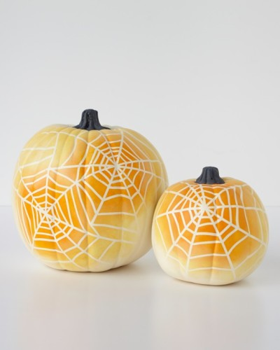 spider web pumpkins
