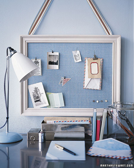 framed bulletin board