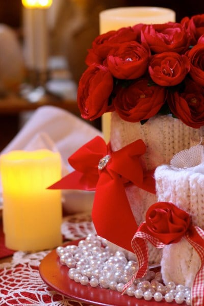 A Romantic Valentine Tablescape