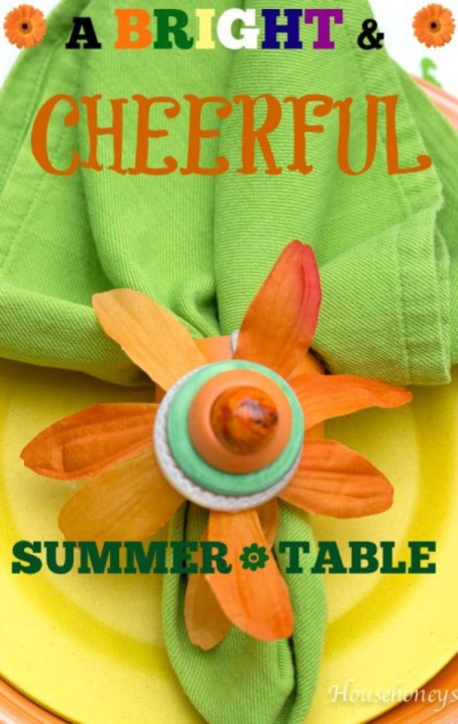 A Bright & Cheerful Summer Tablescape