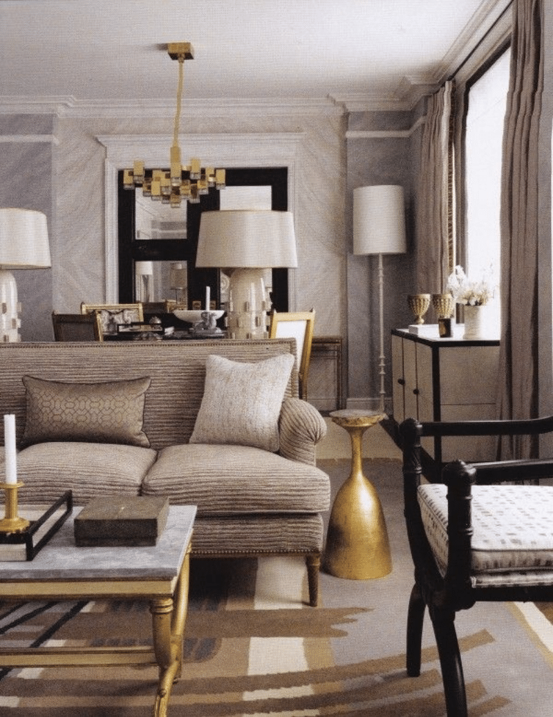 Decorating with gold fox den rd Gold accessories for living room