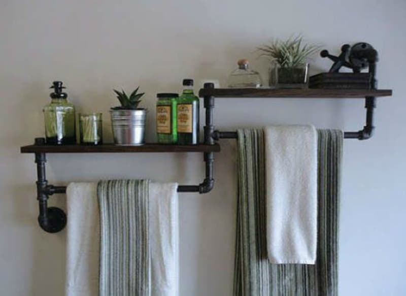 Fun and Functional Towel Racks