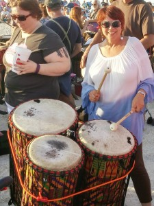 drum circle in venice