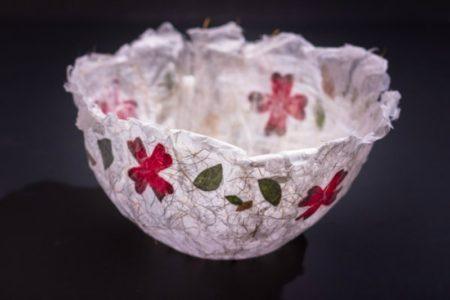 decoupaged bowl