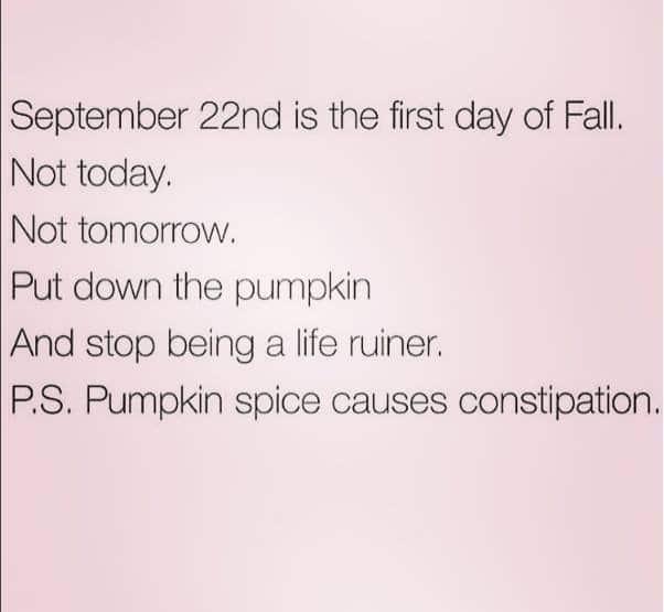 no pumpkins