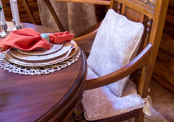 dining chair zippered pillow