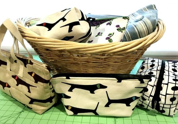 basket of pouches