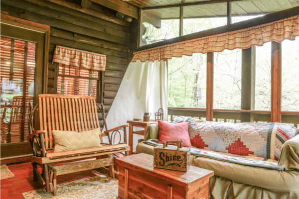 log cabin tour