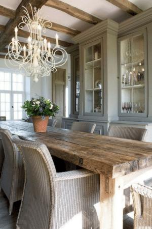 Rustic romantic dining room