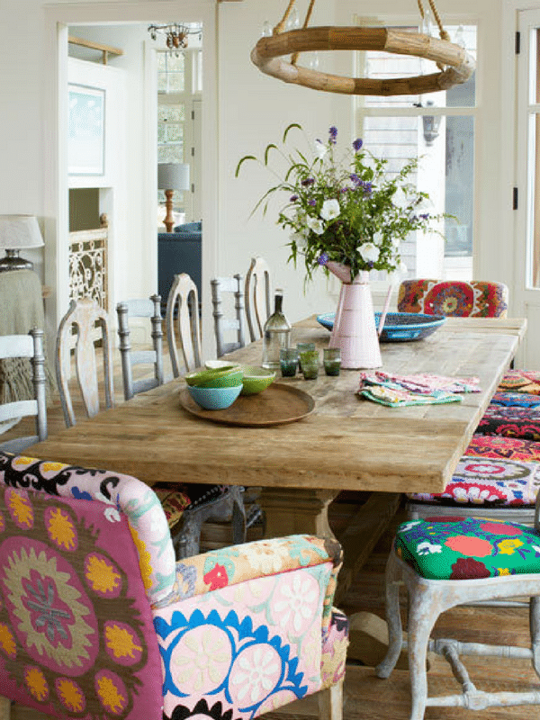 Whimsical dining room chairs