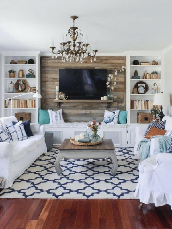 Rustic and elegant living room